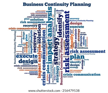Business Continuity Planning In Word Collage