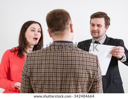 Business conversation, teamwork concept - stock photo