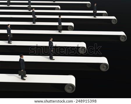 business conveyor - stock photo
