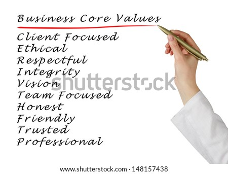 Business core values