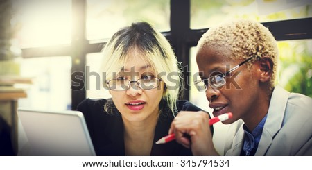 Business Corporate Collaboration Concentrate Focus Concept - stock photo
