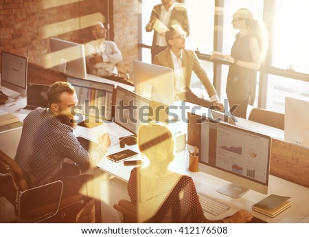 Business Corporation Organization Teamwork Concept - stock photo