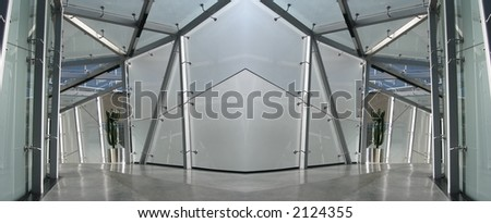 Business corridor - stock photo