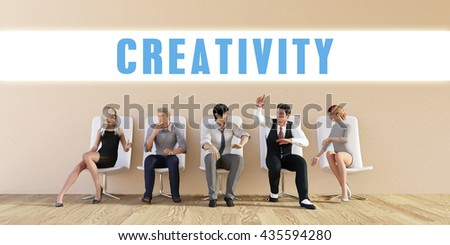 Business Creativity Being Discussed in a Group Meeting 3d Illustration Render - stock photo