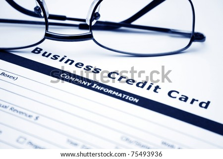 Business credit card application - stock photo