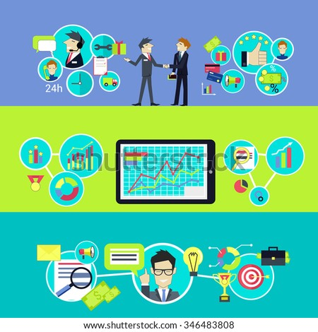 Business customer relationship. Tips and trips. Crm, management and communication, strategy success, people professional, support manager businessman client person, analysis consultant. Raster version - stock photo