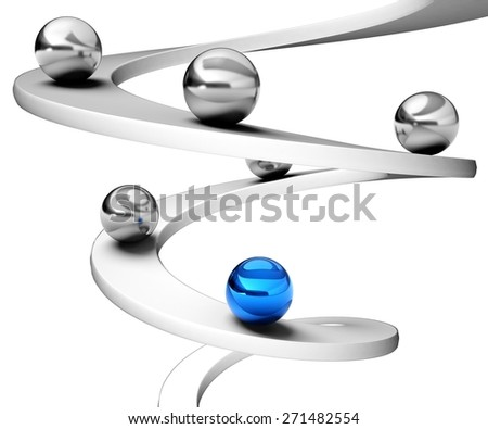 Business. 3D. Going Up - stock photo