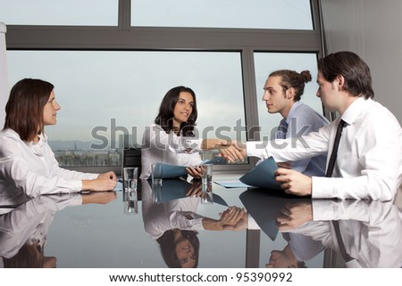 Business deal between businesspeople