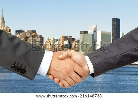 Business Deal building backgraund - stock photo
