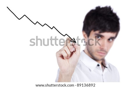 Business decline profit - stock photo