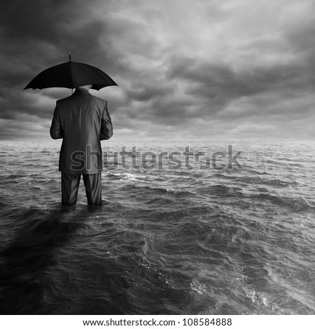 business depression - stock photo