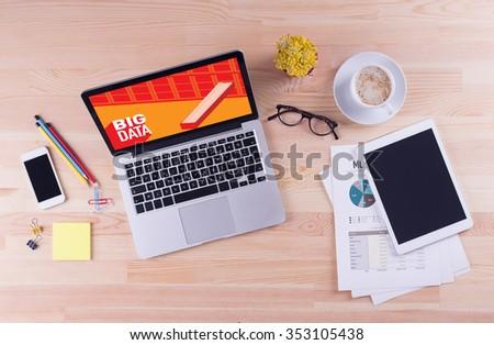 Business desk concept - BIG DATA - stock photo