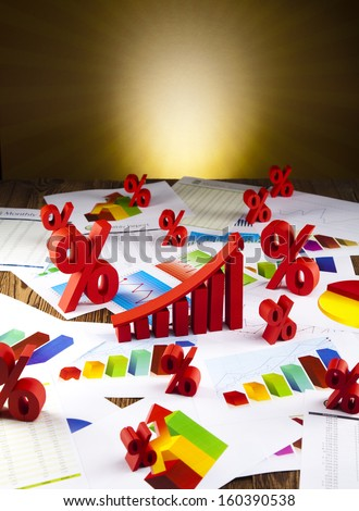 Business diagram, growth, chart,arrow  - stock photo