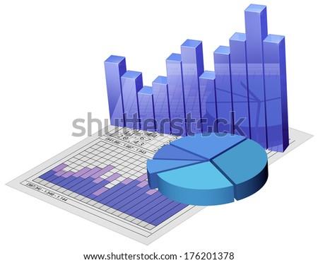 Business diagrams - stock photo