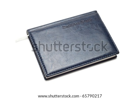 business diary isolated on the white background