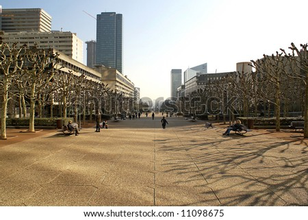 business district in Paris, France - stock photo