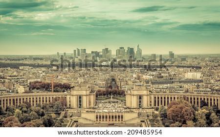Business district La Defence in Paris, France - stock photo