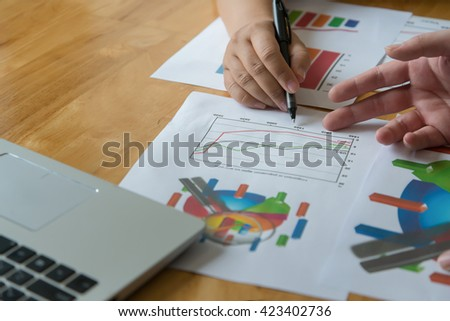 Business documents on office table graph stock photo royalty free business documents on office table and graph business with social network diagram and man working in ccuart Choice Image
