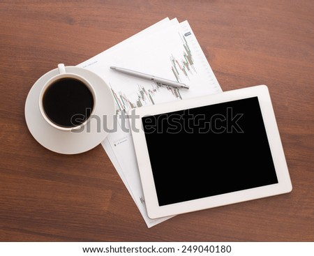 Business documents. Placed on the table - stock photo