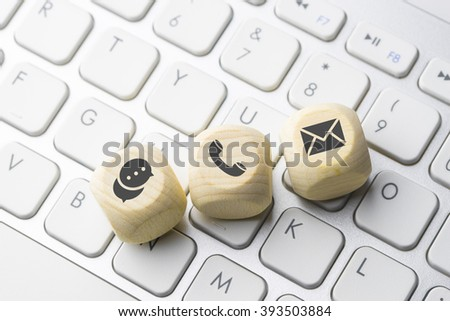 Business e-commerce icon on computer keyboard button - stock photo