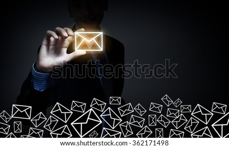 Business email concept - stock photo