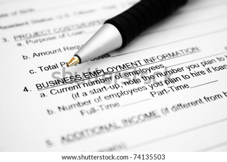 Business employment form