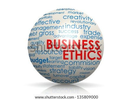Business ethics sphere - stock photo