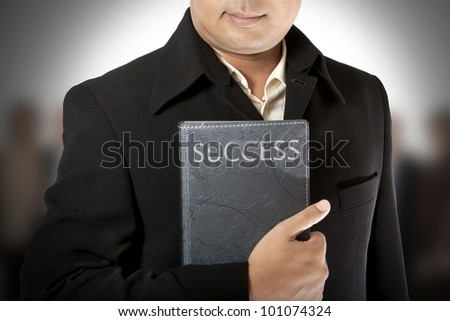 business executive enjoying success with team mates - stock photo