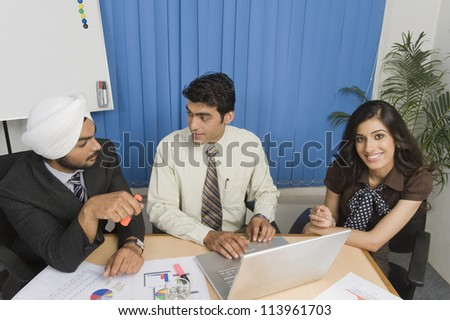 Business executives are on meeting in an office