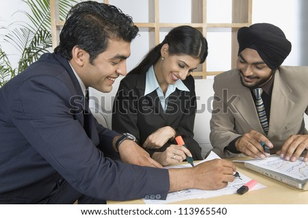 Business executives on a meeting - stock photo