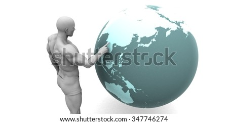 Business Expansion into Asia or Asean States Concept - stock photo