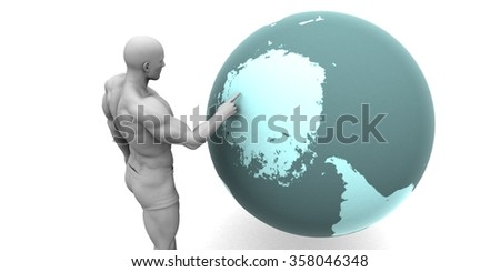 Business Expansion into the Antarctica Arctic Continent - stock photo