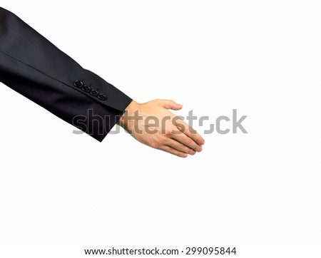 business extending his hand in greeting