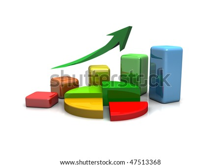 business finance chart, bar, diagram, chart on a white background