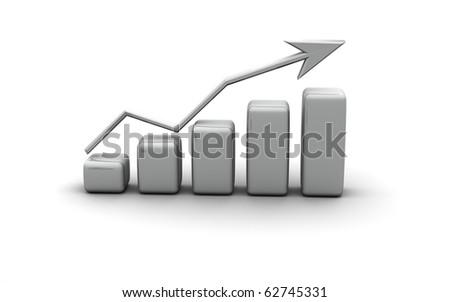 business finance graphic, diagram chart, bar, graph - stock photo