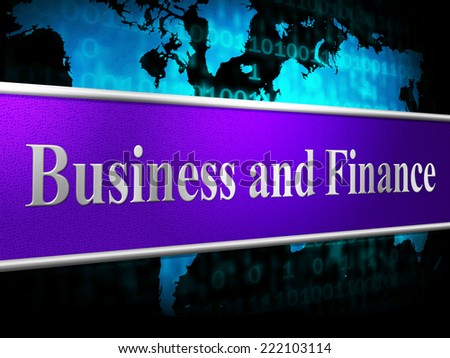 Business Finance Representing Company Trade And Profit - stock photo
