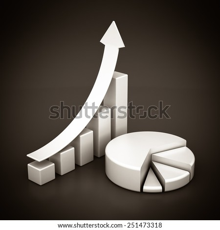 Business finance, statistics, analytic, tax and accounting. Black and white - stock photo
