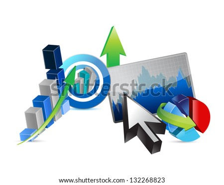Business financial economy concept illustration design over white