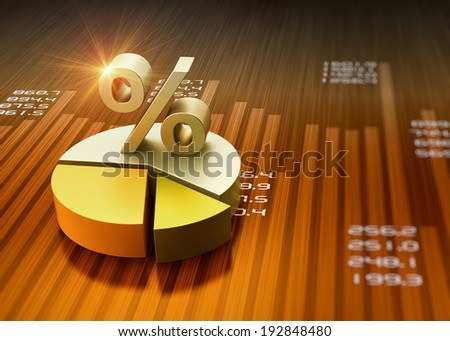 Business financial graph chart as concept - stock photo