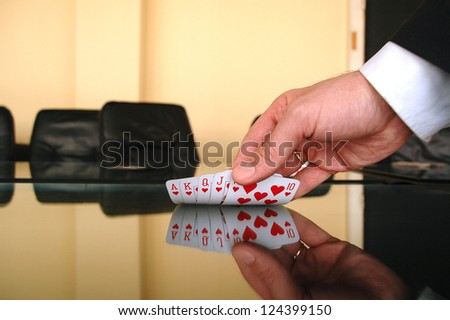 Business gamble , business risk - stock photo