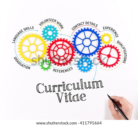 Business Gears and Curriculum Vitae Mechanism - stock photo