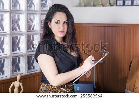 business girl in office