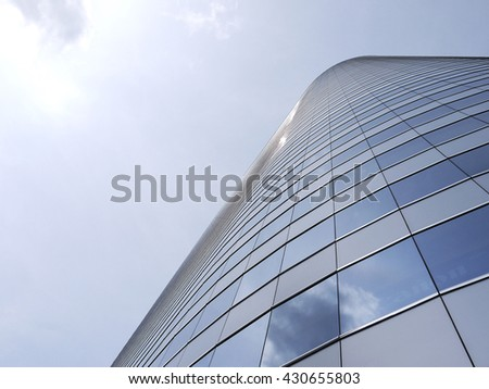 Business glass building