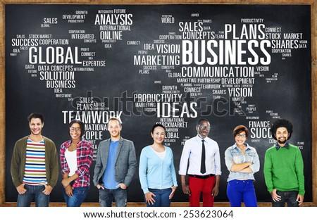 Business Global World Plans Organization Enterprise Concept - stock photo