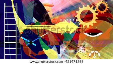 Business Goals Abstract - stock photo