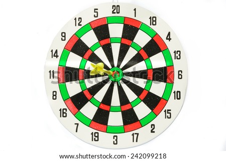 Business goals,Dart on white background. - stock photo