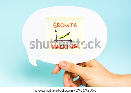 Business graph and chart of growth hacking. Marketing concept. - stock photo