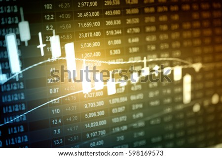 Business Graph Background Analysis Business Accounting Stock Photo