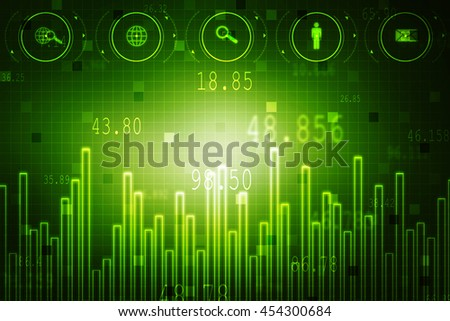 Business graph background,2d illustration