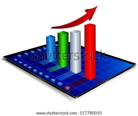 Business graph ,bitmap - stock photo